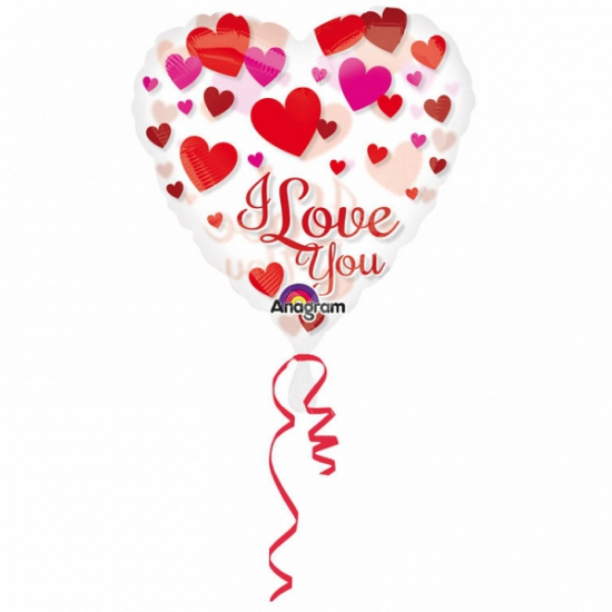 Folie ballon hart i love you 66 cm