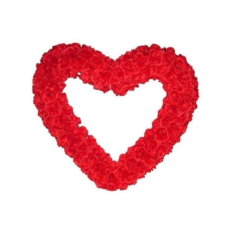 Groot decoratie hart 70 cm rood
