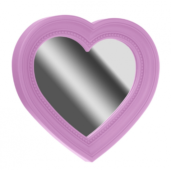 Spiegel hart vorm roze