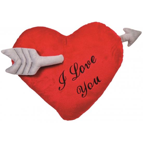 Pluche kussen I Love You 35 cm