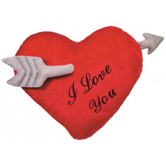 Pluche kussen I Love You 60 cm