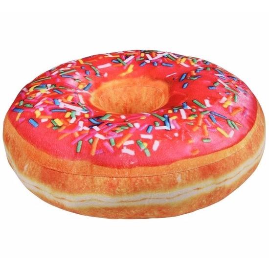 7f47c8d34faa55 Sprinkels donut kussen roze 40 cm bij Fun en Feest België