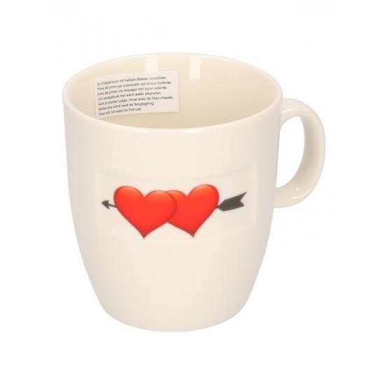 Valentijn koffiekop met 2 hartjes