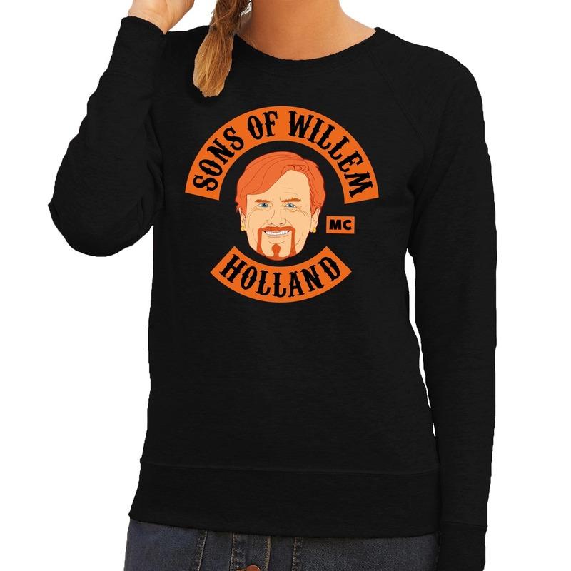 Zwart Sons of Willem sweater dames
